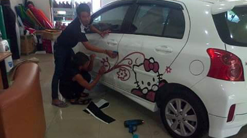 Cutting Sticker MPV