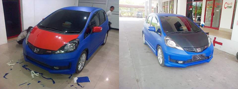 Wrapping Sticker Honda Jazz