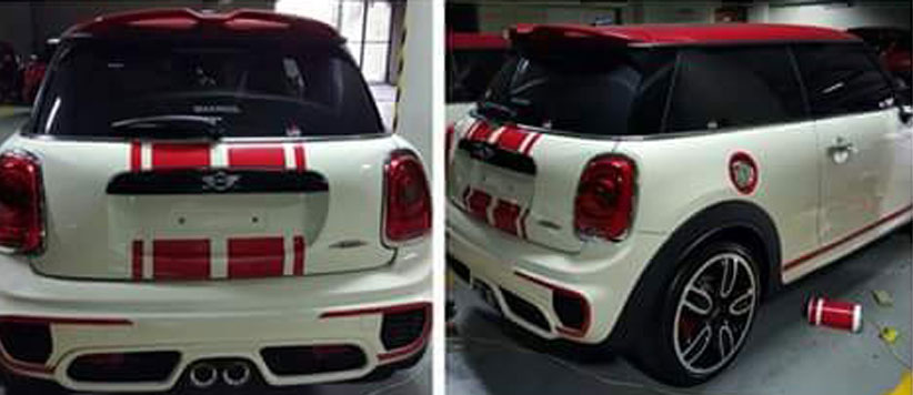 Contoh Wrapping Sticker Pada Mobil